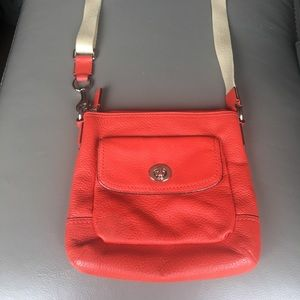 Red Leather Coach Crossbody Purse